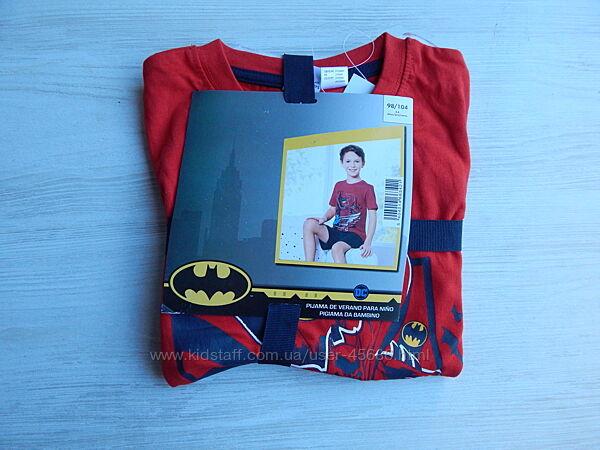 Детская летняя пижама бетмен batman 98/104