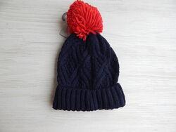 Вязанная шапка с помпоном primark от 0 до 1 и 1-2года