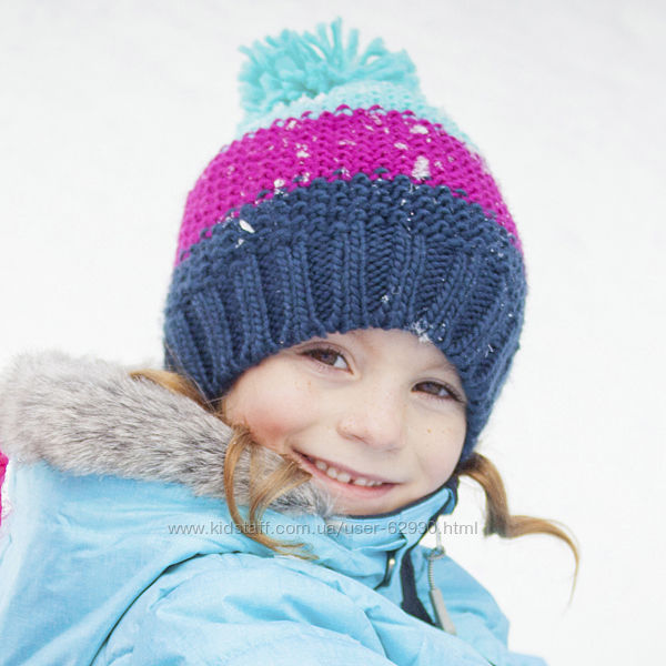 Шапки зимние NANO на флисе для девочек 2-7 лет