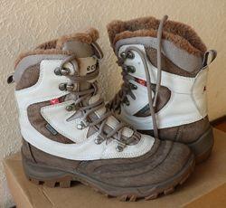 Зимние ботинки Ecco кожа яка 37р отличное