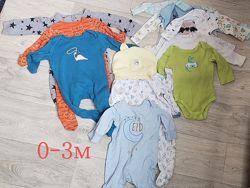 Пакет детской одежды 0-3 м