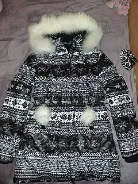 Куртка-пальто Donilo р152 зимняя очень теплая