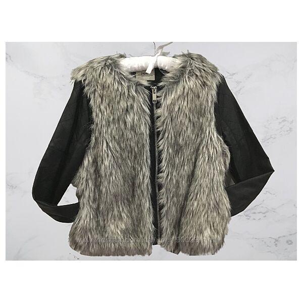 Кожаная курточка с искусственным мехом