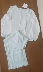 Новая пижама carters 5 лет мятного цвета