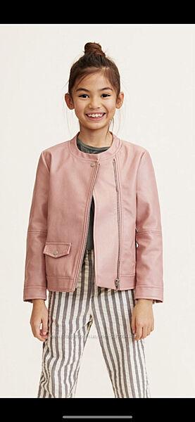 Куртка кожзам mango на девочку 11-12 лет