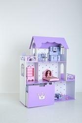 Кукольный дом 3 этажа 120 см Комод ящик