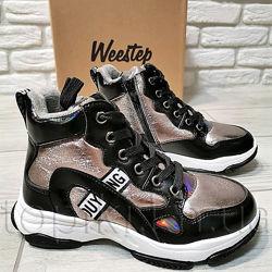 Деми ботинки Weestep 6242TH никель 32-37