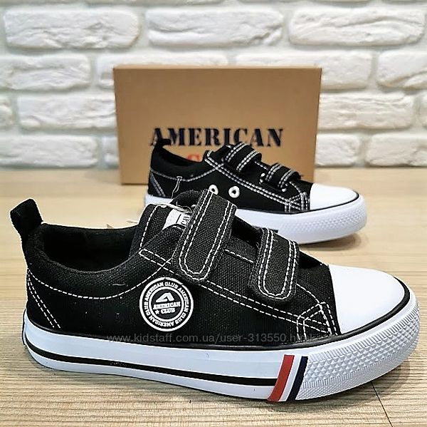 Кеды American Club 3521bl черный размеры 27-31