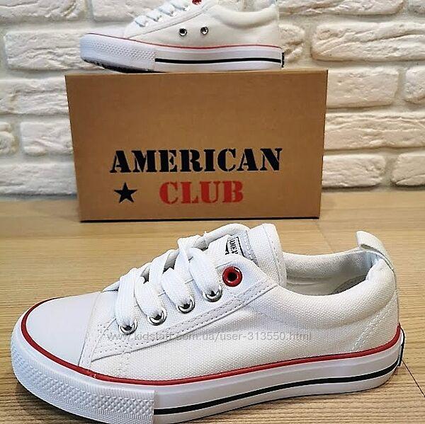 Кеды American club 1521w белый размеры 36-41
