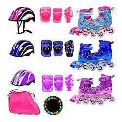 Ролики раздвижные, есть много цветов и размеров, есть и наборы с защитой