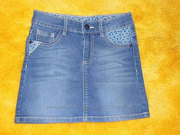 Юбка джинсовая р 128