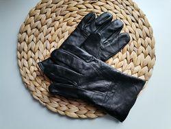 Кожанные утеплённые перчатки