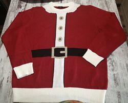 Свитер новогодний Санта унисекс сток