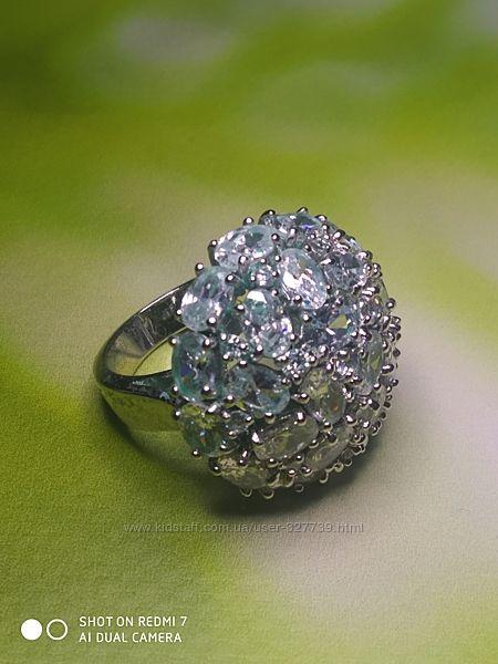 Красивое кольцо с крупными стразами, арт. 0105001, р.18