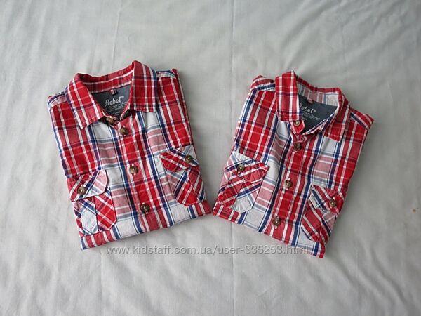 Яркие рубашки для братьев 4-5 и 7-8лет