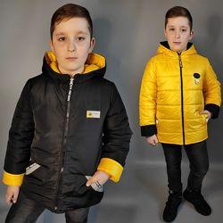 Демисезонная двухсторонняя куртка для мальчика. Три цвета