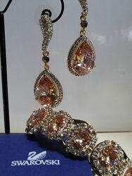 Шикарные серьги с камнями и кристаллами SWAROVSKI. Большой выбор