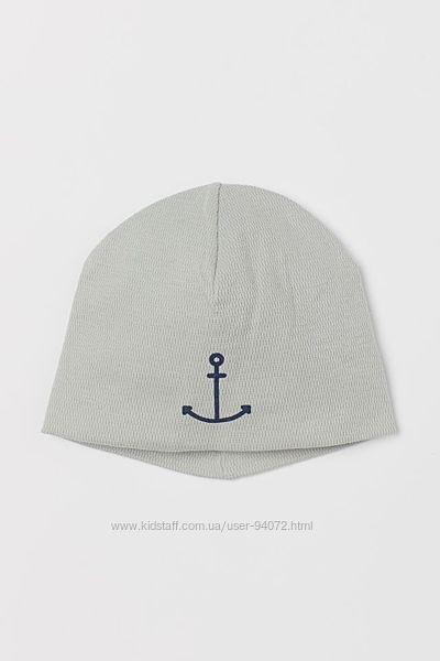 H&M Хлопковая шапка с якорем для 1-4 лет