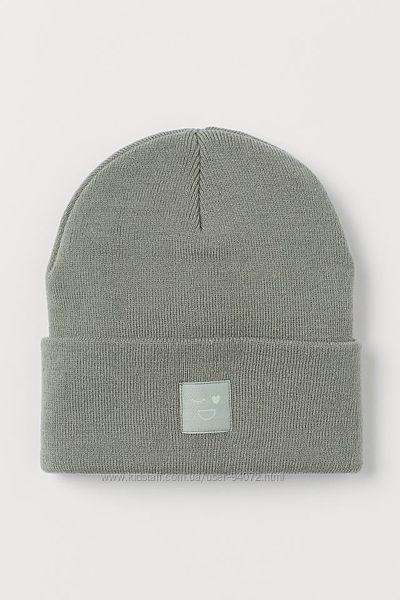 H&M Классные двухслойные вязаные шапочки для 1,5-8 лет
