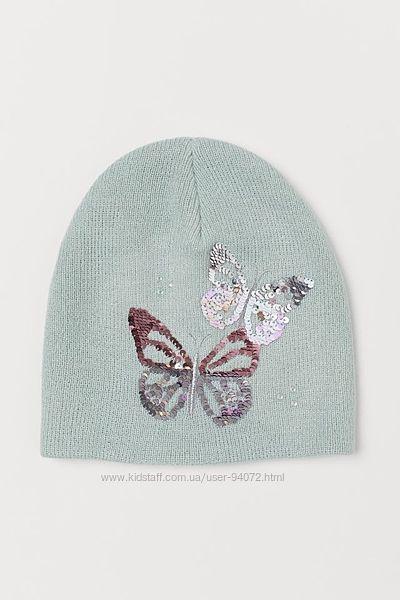 H&M Отличная шапочка с пайетками для 4-8 лет