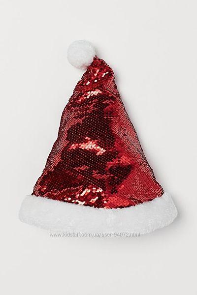 H&M Классная новогодняя шапочка с пайетками-перевертышами