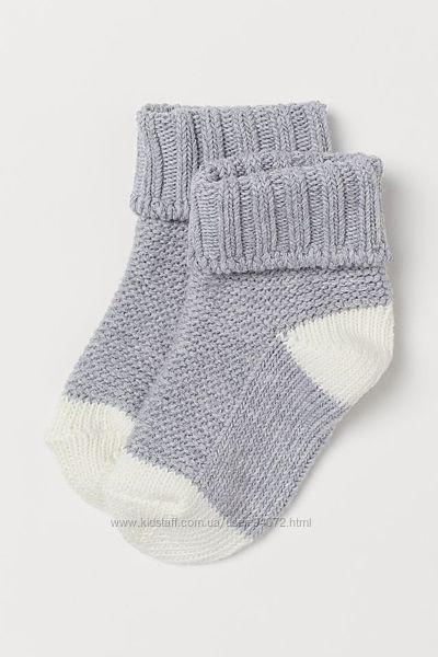 H&M Классные вязанные носочки размер 22-24