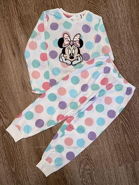 C&A Отличные тепленькие флиссовые пижамки Minnie Mouse для 6-7 и 8-10 лет