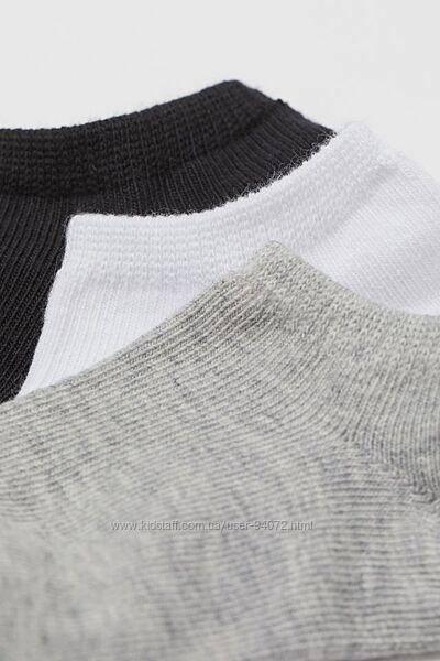 H&M Комплект из 5 пар коротких носочков размер 19-21