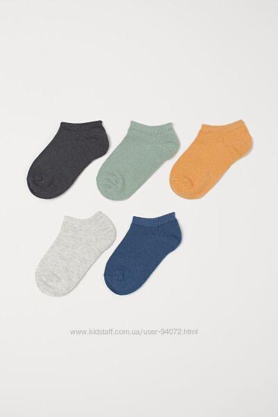 H&M Комплект из 5 пар носочков размер 19-24