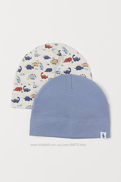 H&M Комплект из 2-х шапочек для 1-2 лет