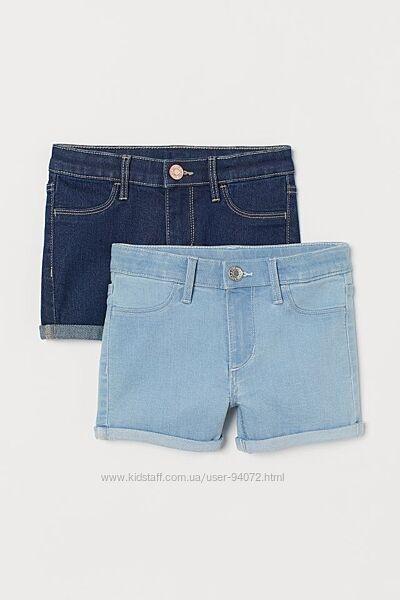 H&M Классные джинсовые шортики для 6-7 лет