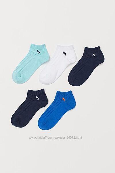 H&M Комплект из 5 пар носочков размеры 22-27 и 31-36