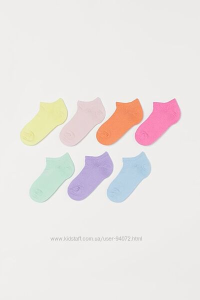 H&M Комплект из 7 пар носочков размер 28-30 и 37-39