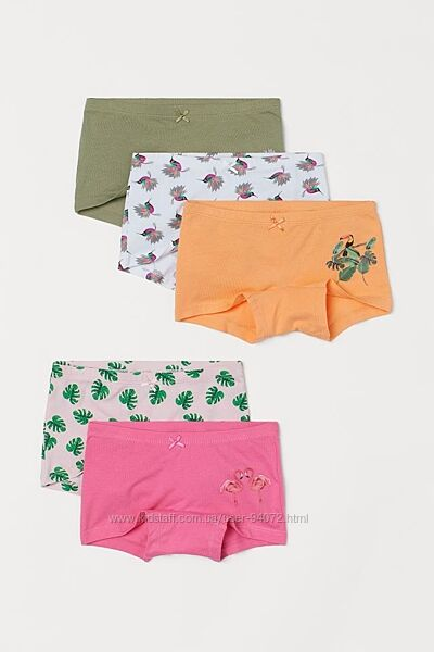 Комплект из 5 пар трусиков-шортиков серии Dieter Braun x H&M для 2-10 лет