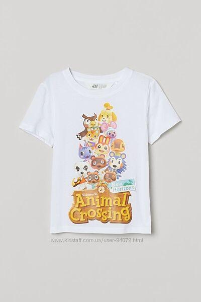 H&M Классная футболка серии Animal Crossing для 1,5-8 лет