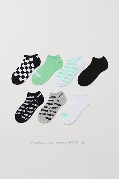 H&M Комплект тз 7 пар носков размер 34-36