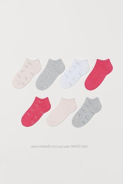 H&M Комплект из 7 пар носочков размер 28-33