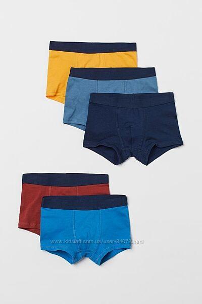 H&M Комплект из 5 пар трусиков-шортиков для 6-10 лет