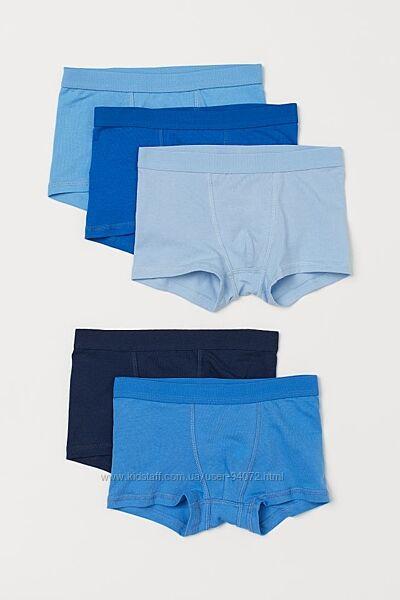 H&M Комплект из 5 пар трусиков-шортиков для 2-4 и 8-10 лет