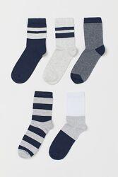 H&M Комплект из 5 пар носков размер 25-27