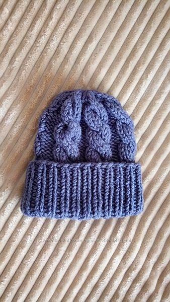 Объёмная шапка крупной вязки. Модная