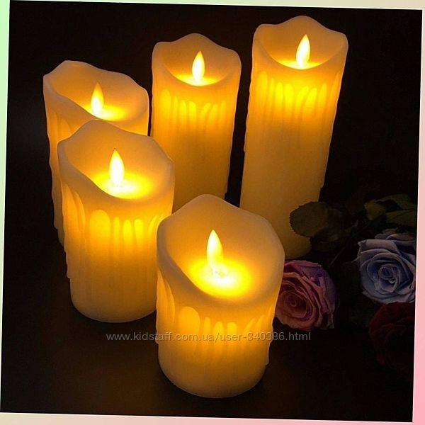 Ночник свеча большая 10 см 43714