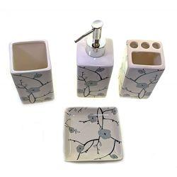 Набор для ванной в подарочной упаковке. Мыльницы с перламутром