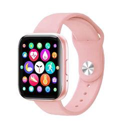 Смарт часы, фитнес браслет T99S голосовой вызов, два браслета, pink