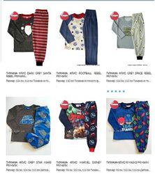 Флисовые пижамы для мальчиков от 12 мес. до 15 лет. Primark. Большой выбор.
