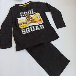 Пижама черная хлопковая примарк эмоджи primark на 3-4 года, 104 см