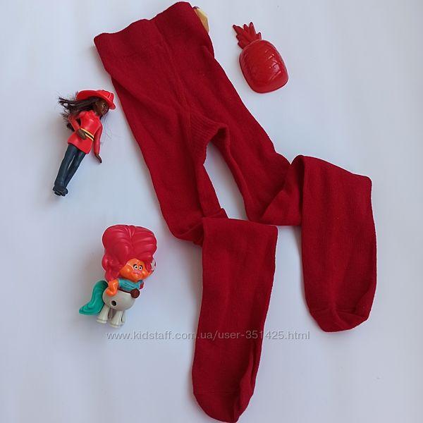 красные колготы на девочки 3-4 года