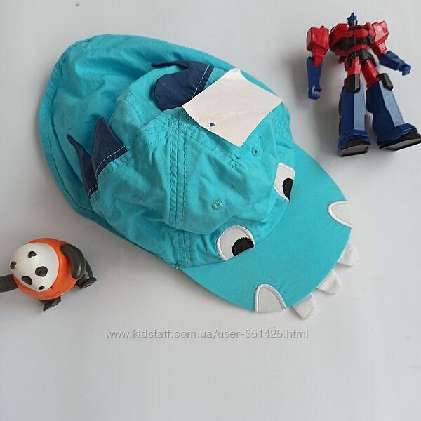 голубая крутая кепка панамка для мальчика динозавр 9-12 мес,  H&M