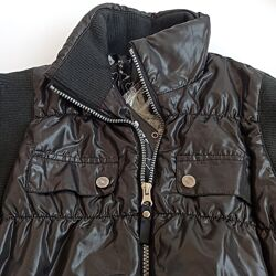 Стильная комбинированная демисезонная черная куртка oggi 44 46 48 50