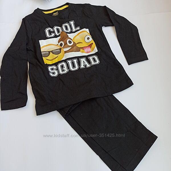 Пижама черная хлопковая примарк эмоджи primark на 2-3 года, 98 см